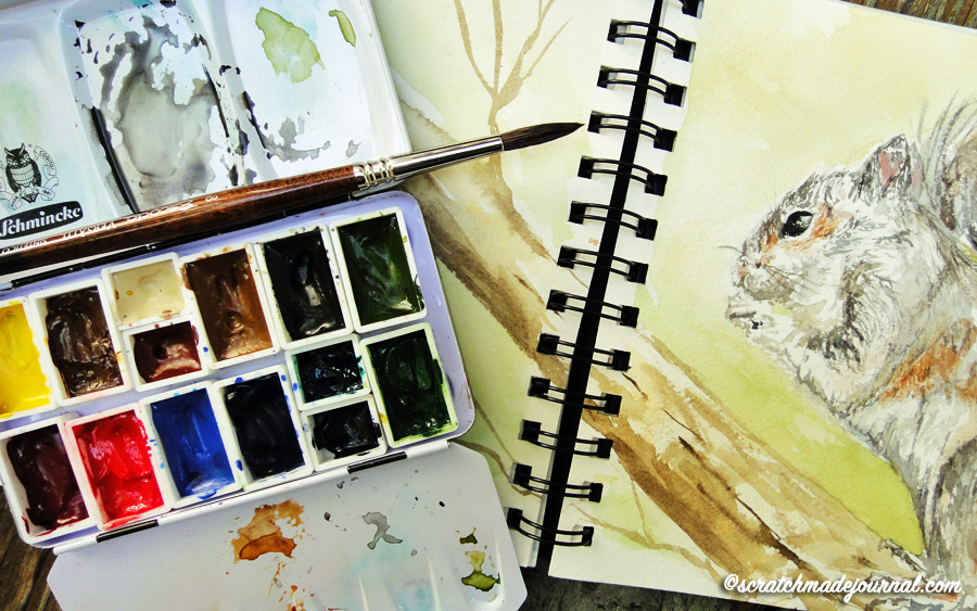 The best watercolor palette for nature sketching - scratchmadejournal.com