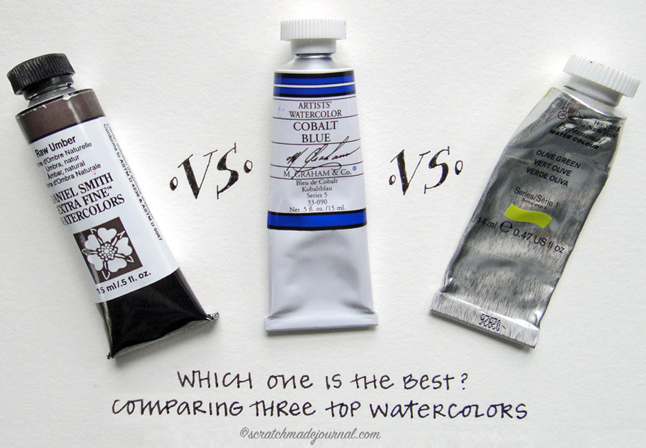 Comparing three popular brands of watercolor paints: Daniel Smith vs M. Graham vs Winsor & Newton. Which one is the best watercolor for you?