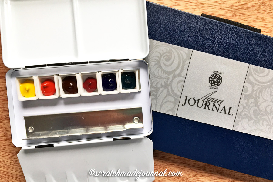 A lovely 6-color watercolor palette, perfect for nature sketching, plus a giveaway! - scratchmadejournal.com