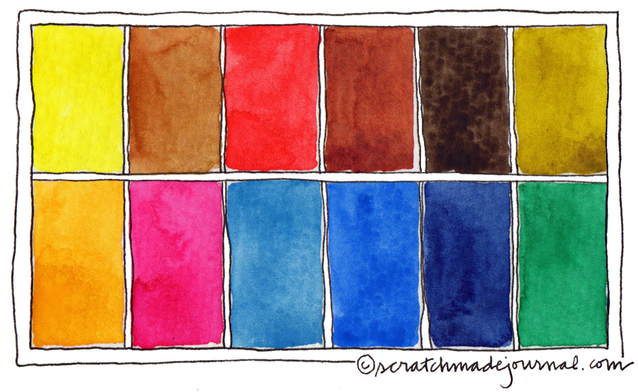My top 12 watercolor colors make a perfect palette combo - scratchmadejournal.com