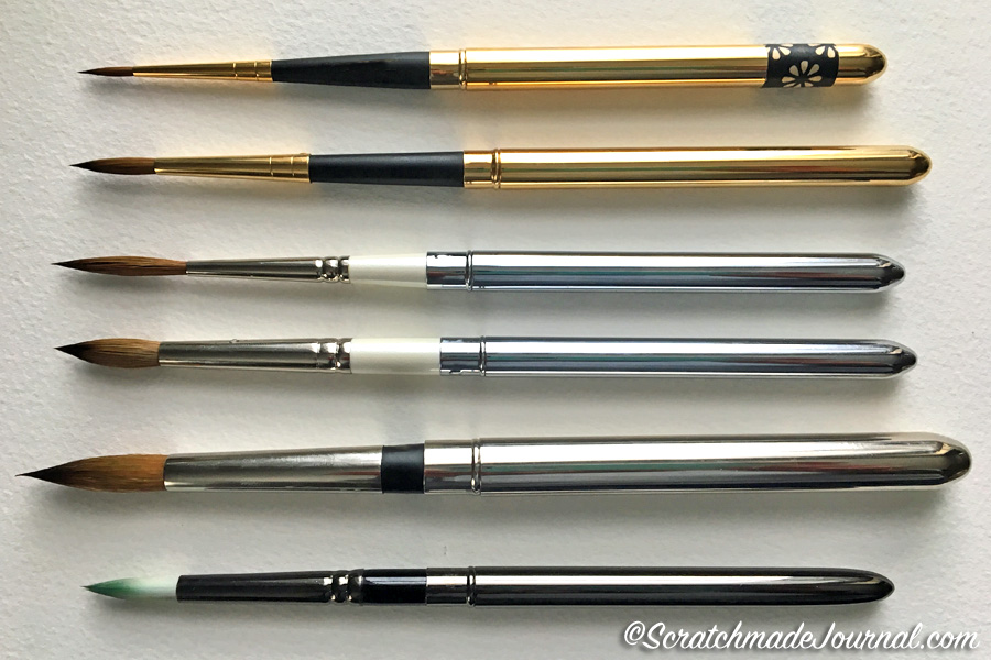 Reviews & comparisons of travel pocket brushes for watercolor - ScratchamadeJournal.com
