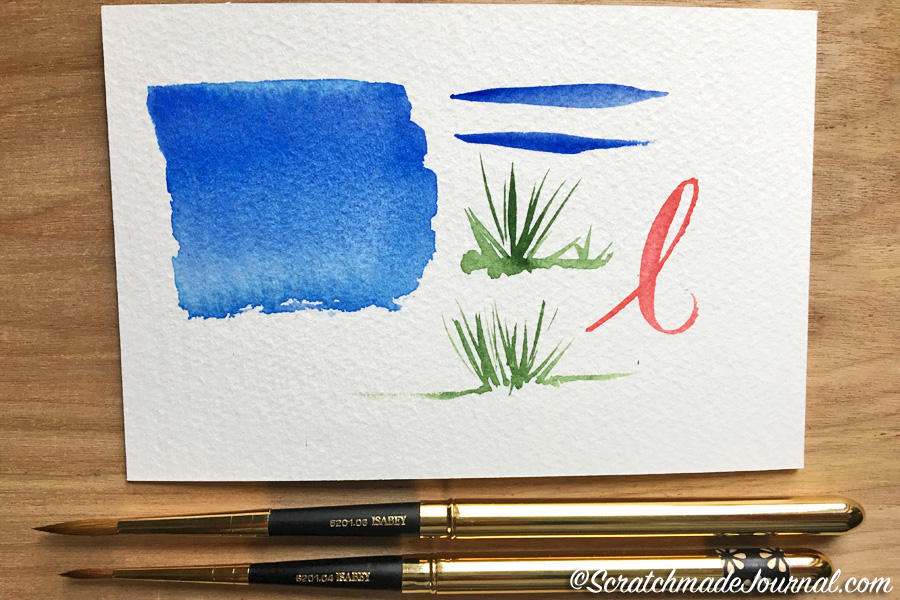 Review of Isabey Pure Red Sable Pocket Travel brushes - ScratchmadeJournal.com