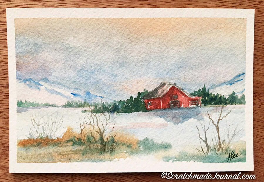 Learning how to paint snowy landscapes with watercolor - scratachmadejournal.jpg