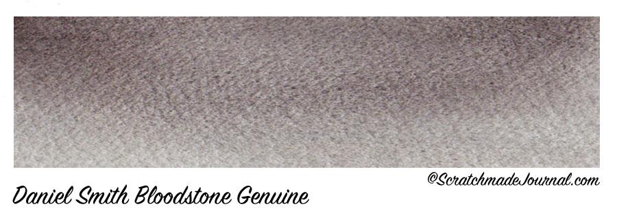 Daniel Smith Bloodstone Genuine swatch plus the best watercolor grays - ScratchmadeJournal.com