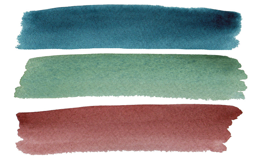 Swatches of some of my favorite American Journey watercolors plus an in-depth review - ScratchmadeJournal.com