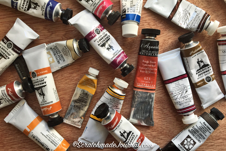 A bit about watercolor brands & recommended colors for a palette - ScratchmadeJournal.com
