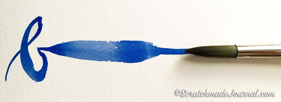 Loew-Cornell Taklon brush sample plus best beginner watercolor brushes - ScratchmadeJournal.com