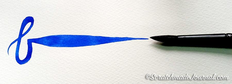 Black Velvet brush sample plus best beginner watercolor brushes - ScratchmadeJournal.com