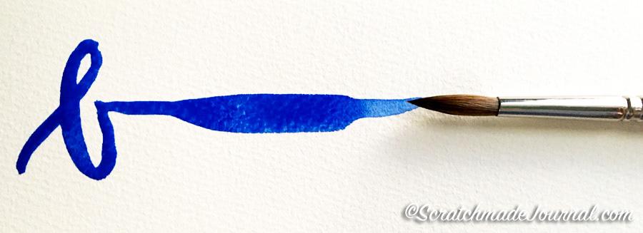Blick Master's Kolinsky sable brush sample plus best beginner watercolor brushes - ScratchmadeJournal.com