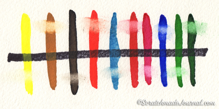 Transparency & lifting of Rembrandt Watercolors - ScratchmadeJournal.com