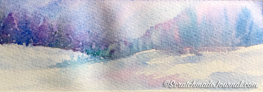 Rembrandt watercolors in an initial stage of a painting plus my complete review - ScratchmadeJournal.com