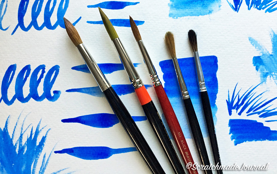 How to test a watercolor brush - ScratchmadeJournal.com
