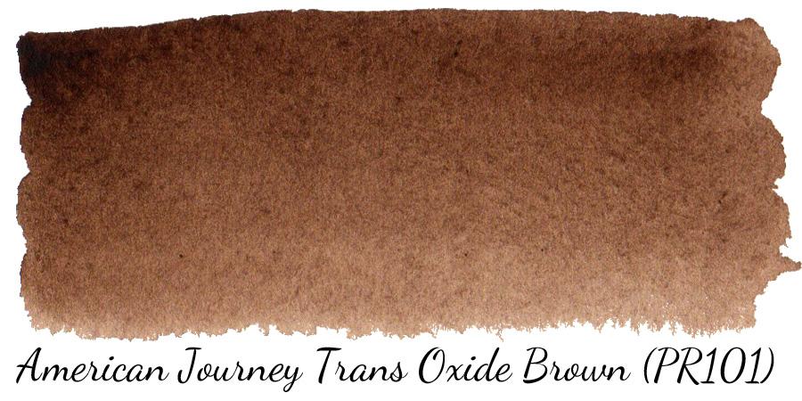 American Journey Transparent Oxide Brown (PR101) watercolor swatch - ScratchmadeJournal.com