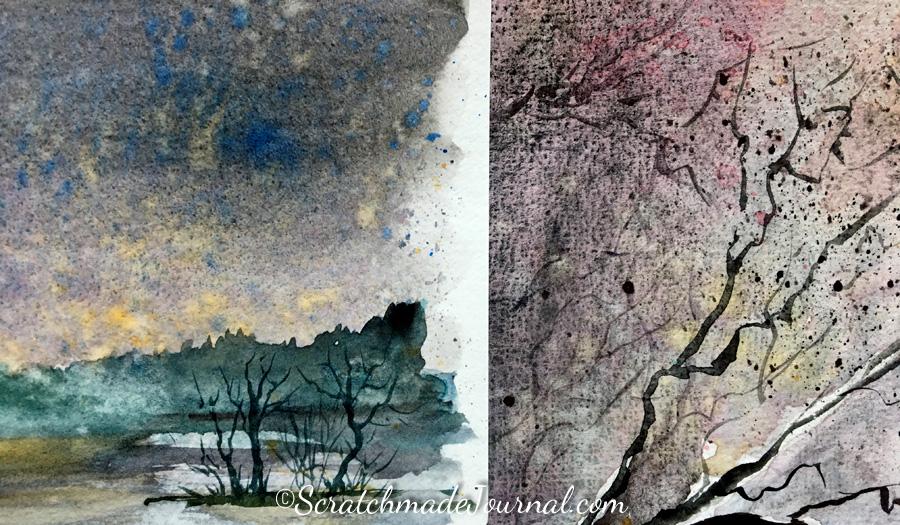 Pentalic vs Hahnemühle watercolor sketchbooks - ScratchmadeJournal.com