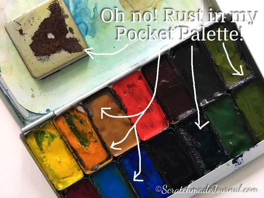 Problems with rust in the Expeditionary Art Pocket Palette - ScratchmadeJournal.com