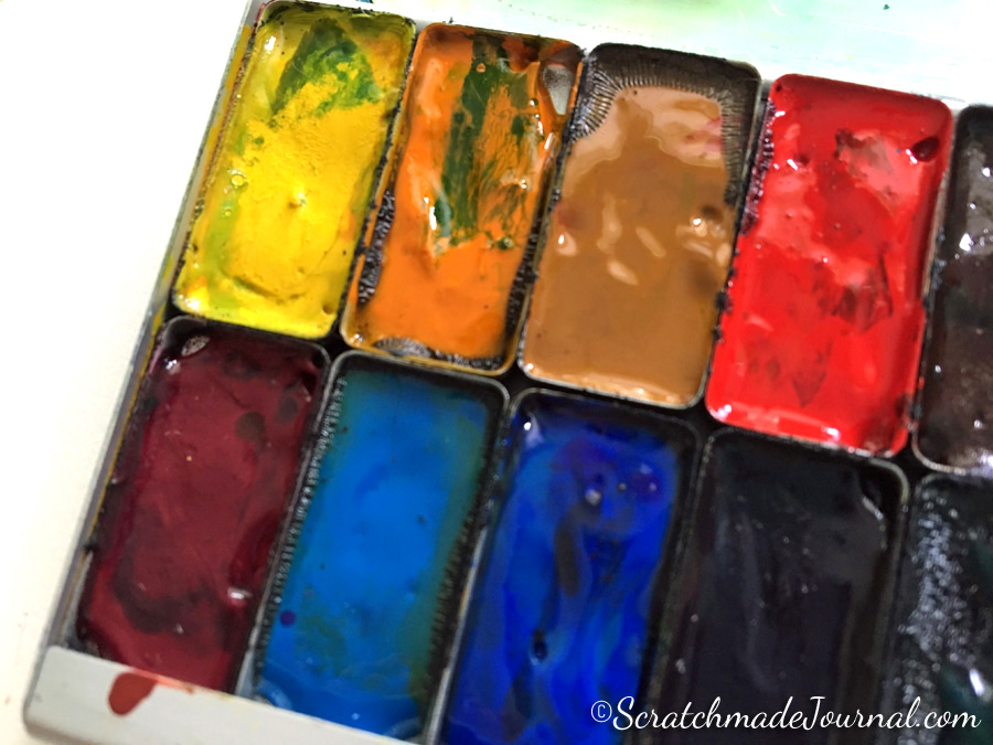Rust in an Expeditionary Art Pocket Palette - ScratchmadeJournal.com