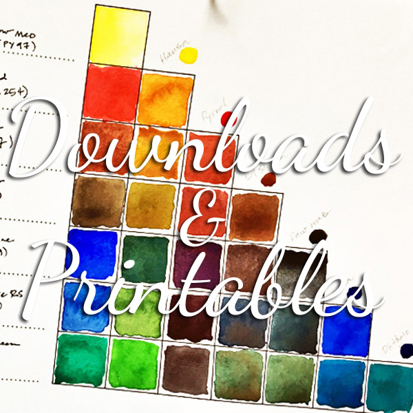 Printables & guides for learning sketching, lettering, watercolor & more at ScratchmadeJournal.com