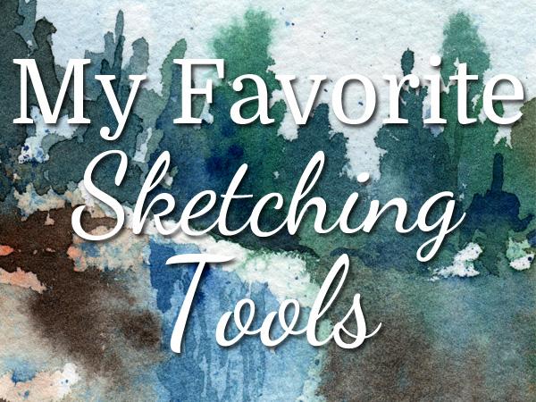 My favorite sketching tools - ScratchmadeJournal.com