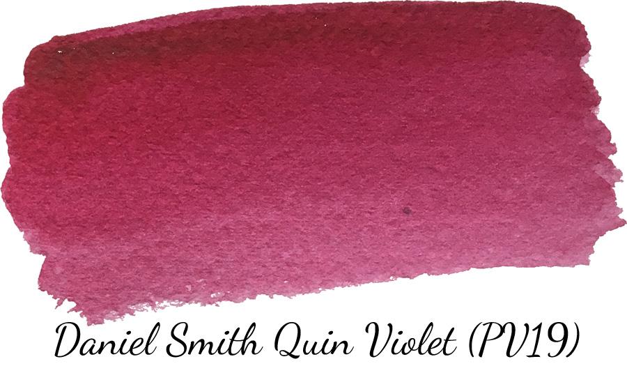 Daniel Smith quinacridone violet watercolor swatch - ScratchmadeJournal.com