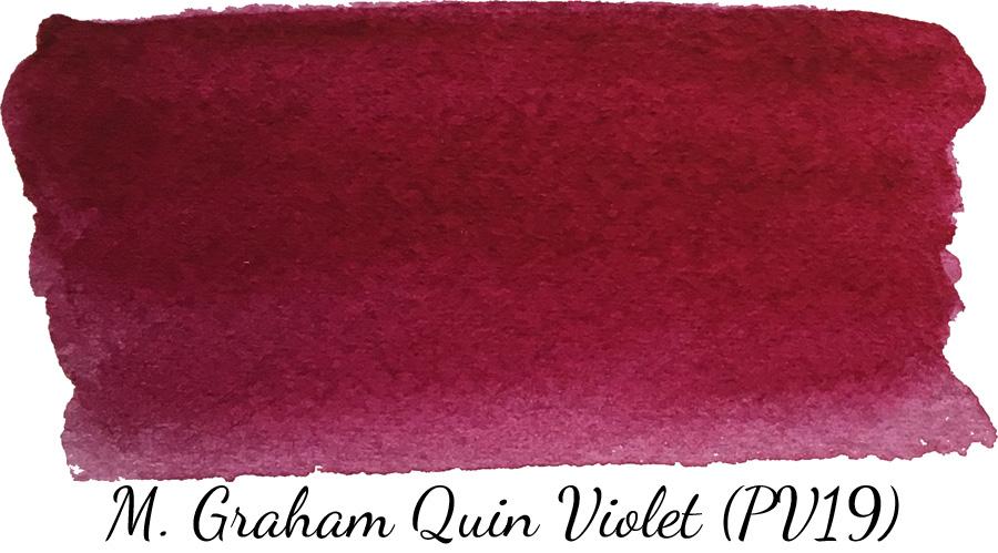 M Graham quinacridone violet watercolor swatch - ScratchmadeJournal.com