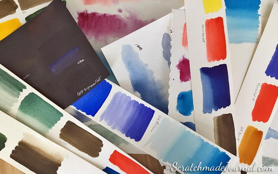 Testing QoR watercolors - ScratchmadeJournal.com