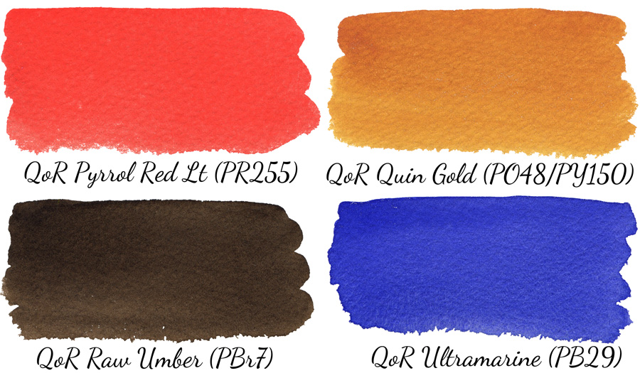 QoR watercolors in masstone - ScratchmadeJournal.com
