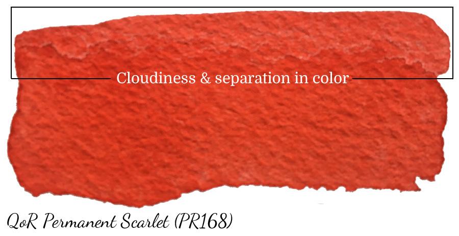 Cloudiness in QoR Permanent Scarlet (PR168) - ScratchmadeJournal..com