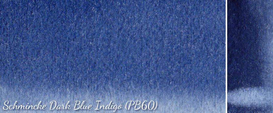 Schmincke Dark Blue Indigo PB60 watercolor - ScratchmadeJournal.com