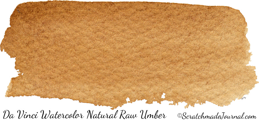 Da Vinci Watercolor Natural Raw Umber PBr7 - ScratchmadeJournal.com