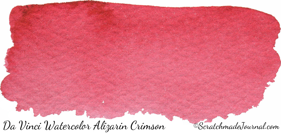 Da Vinci Watercolor Alizarin Crimson PV19 - ScratchmadeJournal.com