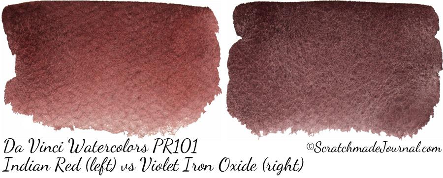 Da Vinci Watercolor PR101: Indian Red & Violet Iron Oxide - ScratchmadeJournal.com