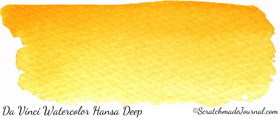 Da Vinci Watercolor Hansa Yellow Deep PY65 - ScratchmadeJournal.com