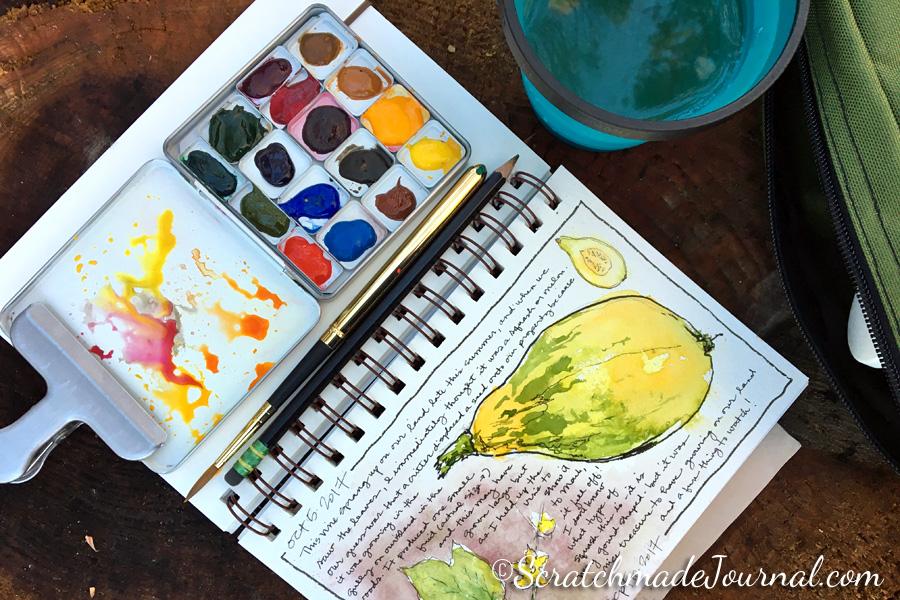 Nature sketching & palette setup  - ScratchmadeJournal.com