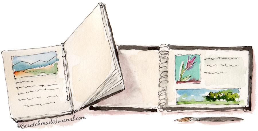 Artist sketchbook sketch illustration - ScratchmadeJournal.com