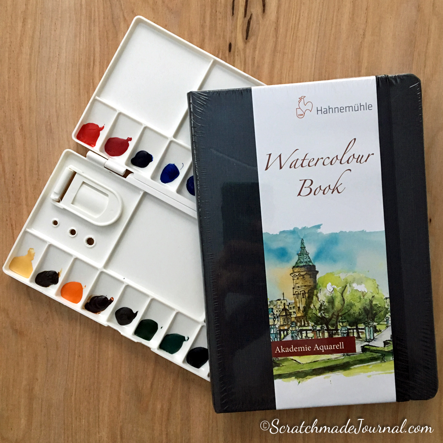Schmincke Horadam Watercolor Review Giveaway Package - ScratchmadeJournal.com