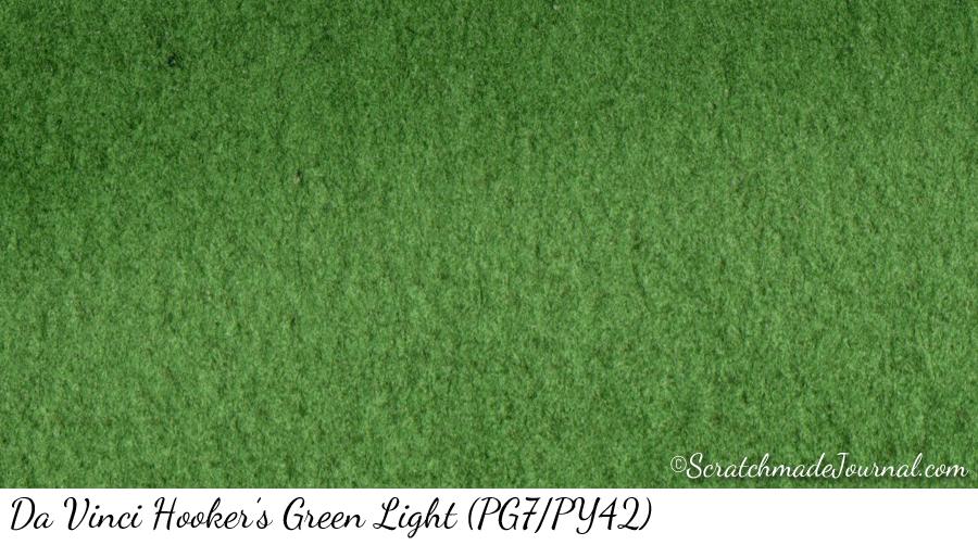 Da Vinci Hookers Green Light watercolor swatch - ScratchmadeJournal.com