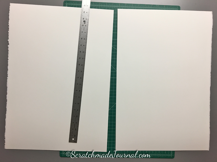 Step 1 of the DIY watercolor paint chip tutorial at ScratchmadeJournal.com