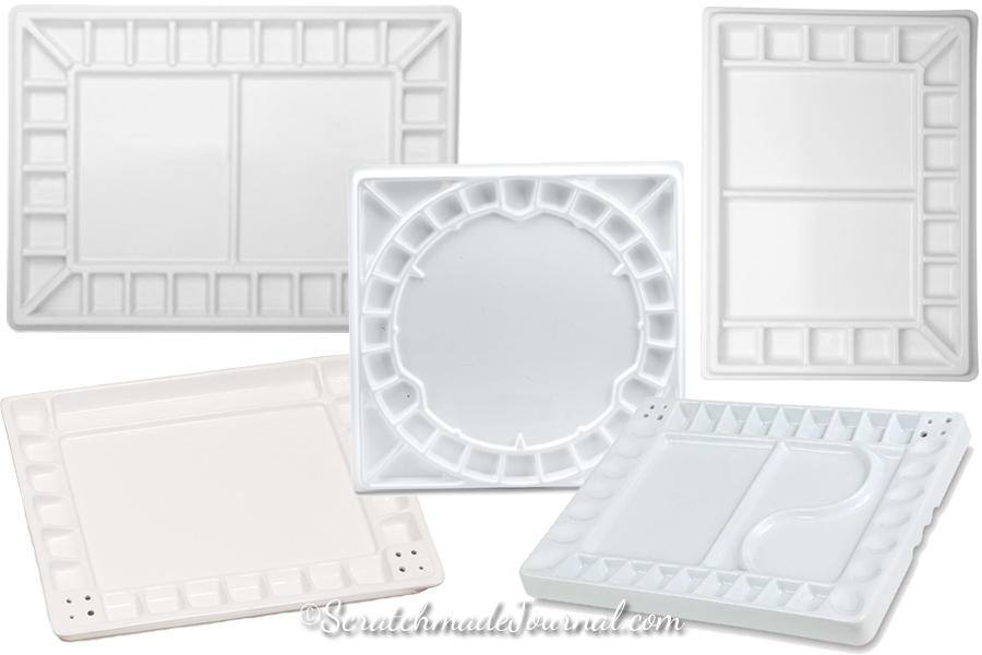 Review of large porcelain watercolor palettes - ScratchmadeJournal.com
