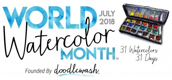 Celebrating World Watercolor Month in July 2018 - ScratchmadeJournal.com