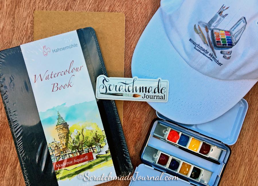 Celebrating World Watercolor Month Giveaway - ScratchmadeJournal.com