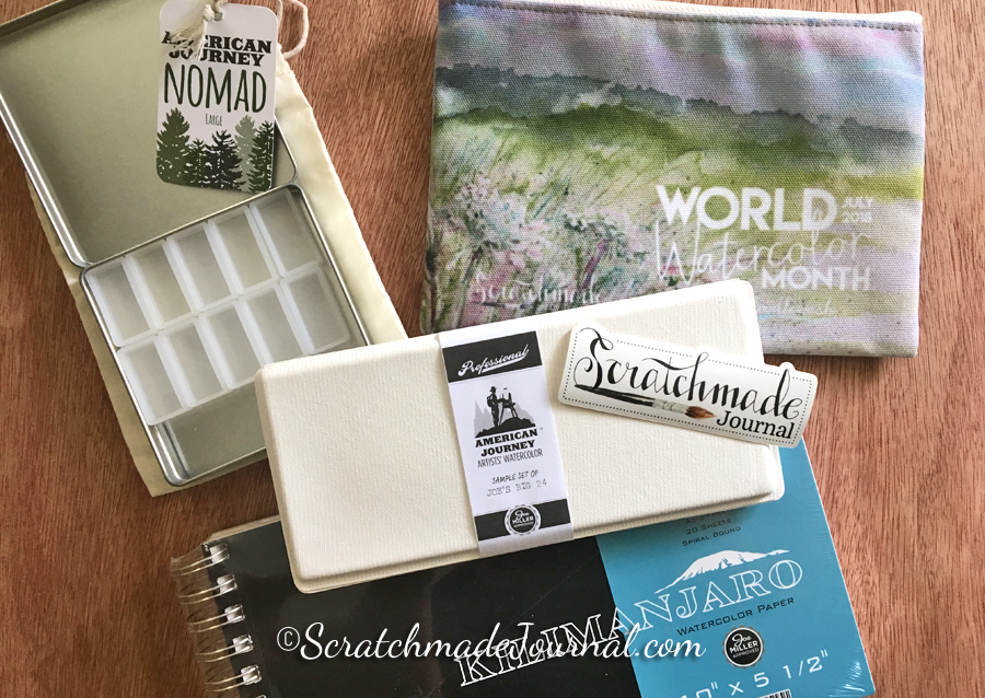 Art supply & watercolor giveaway - ScratchmadeJournal.com