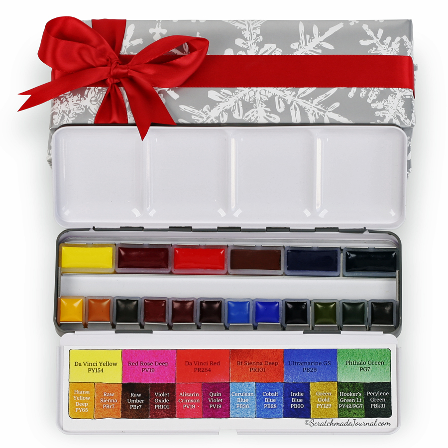The Scratchmade Da Vinci Pan Set is a top 10 watercolor gift for artists - ScratchmadeJournal.com