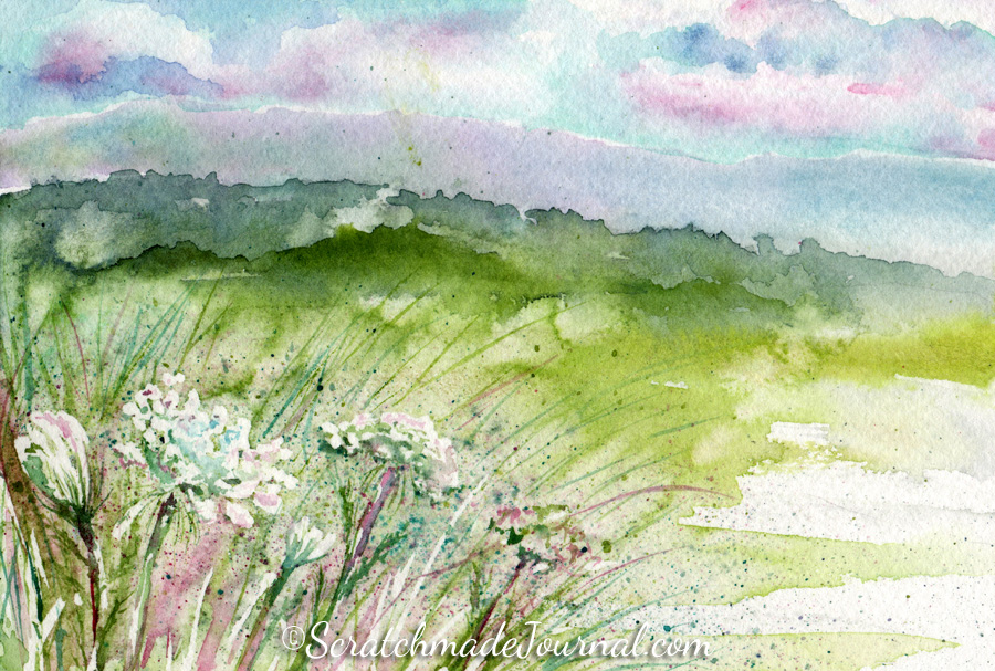 Queen Anne's Lace watercolor painting ©ScratchmadeJournal.jpg