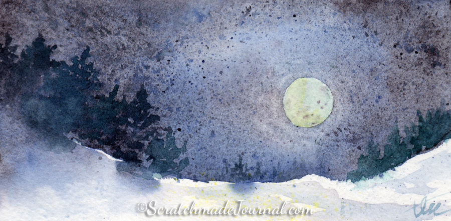 Winter moonscape watercolor ©ScratchmadeJournal.jpg