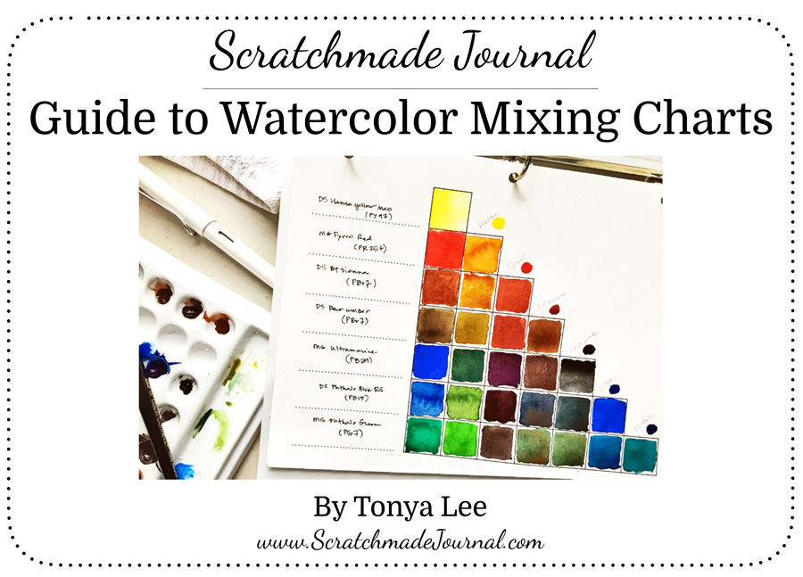 Printable Guide to Watercolor Mixing Charts - ScratchmadeJournal.com