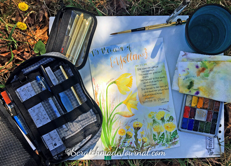 Watercolor Supplies For Beginners Scratchmade Journal
