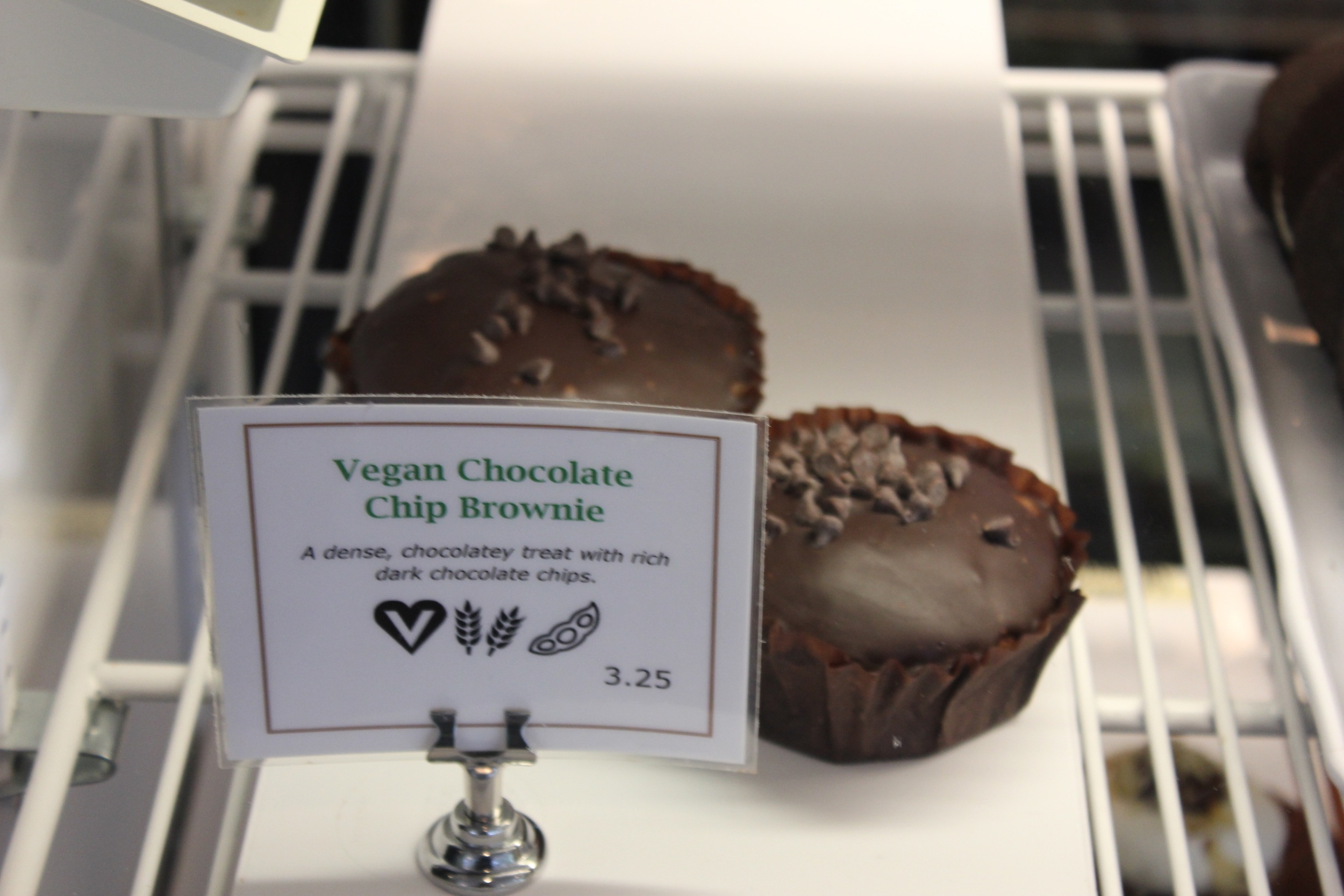 Vegan Brownie Bakery Case