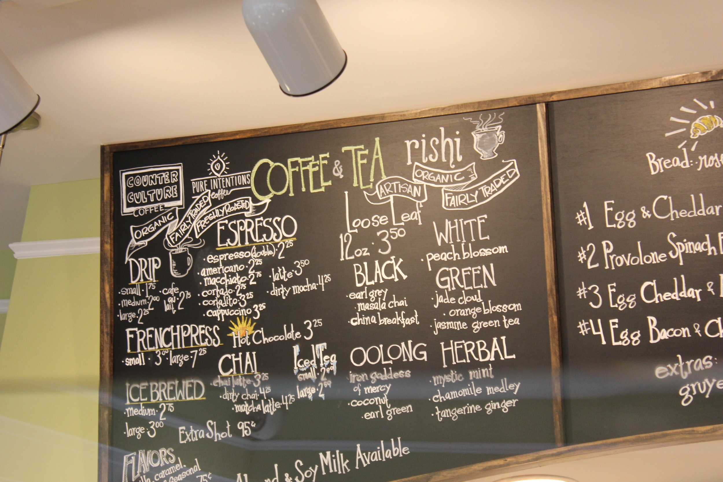 Sunflour Coffee Menu