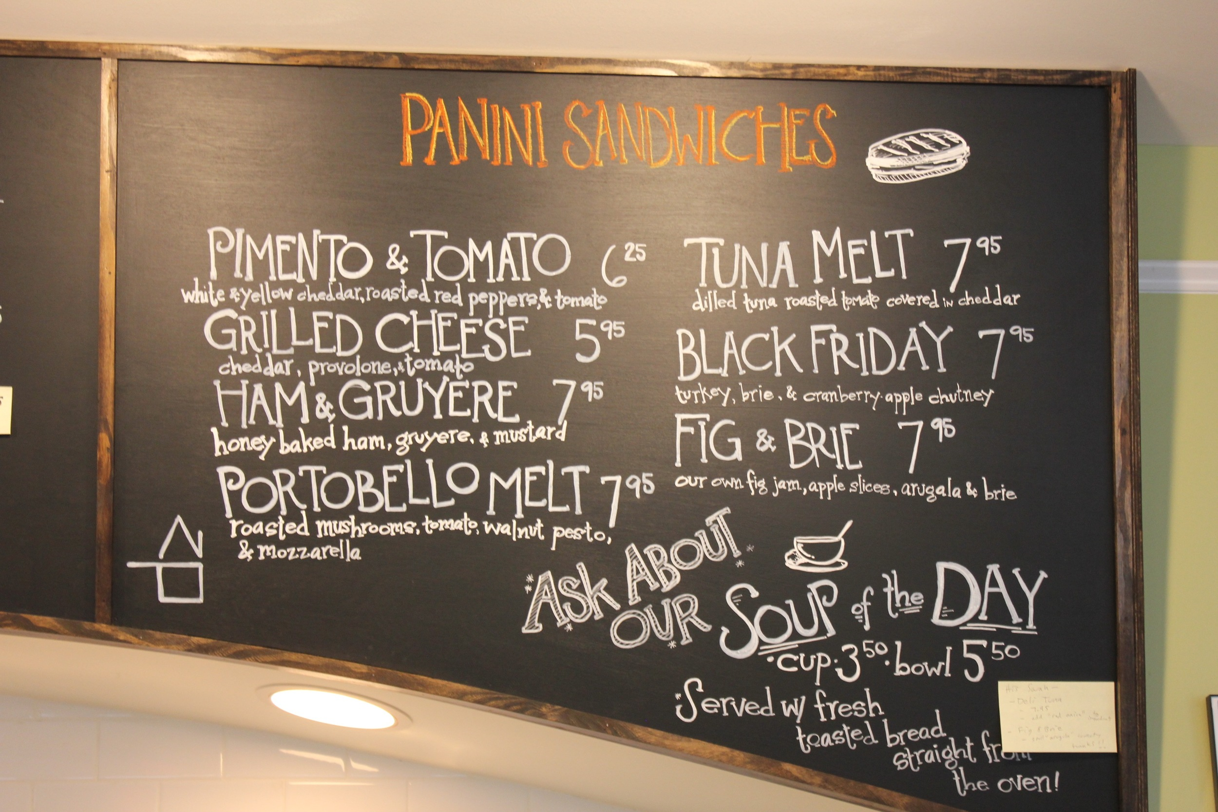 Panini Menu Sunflour