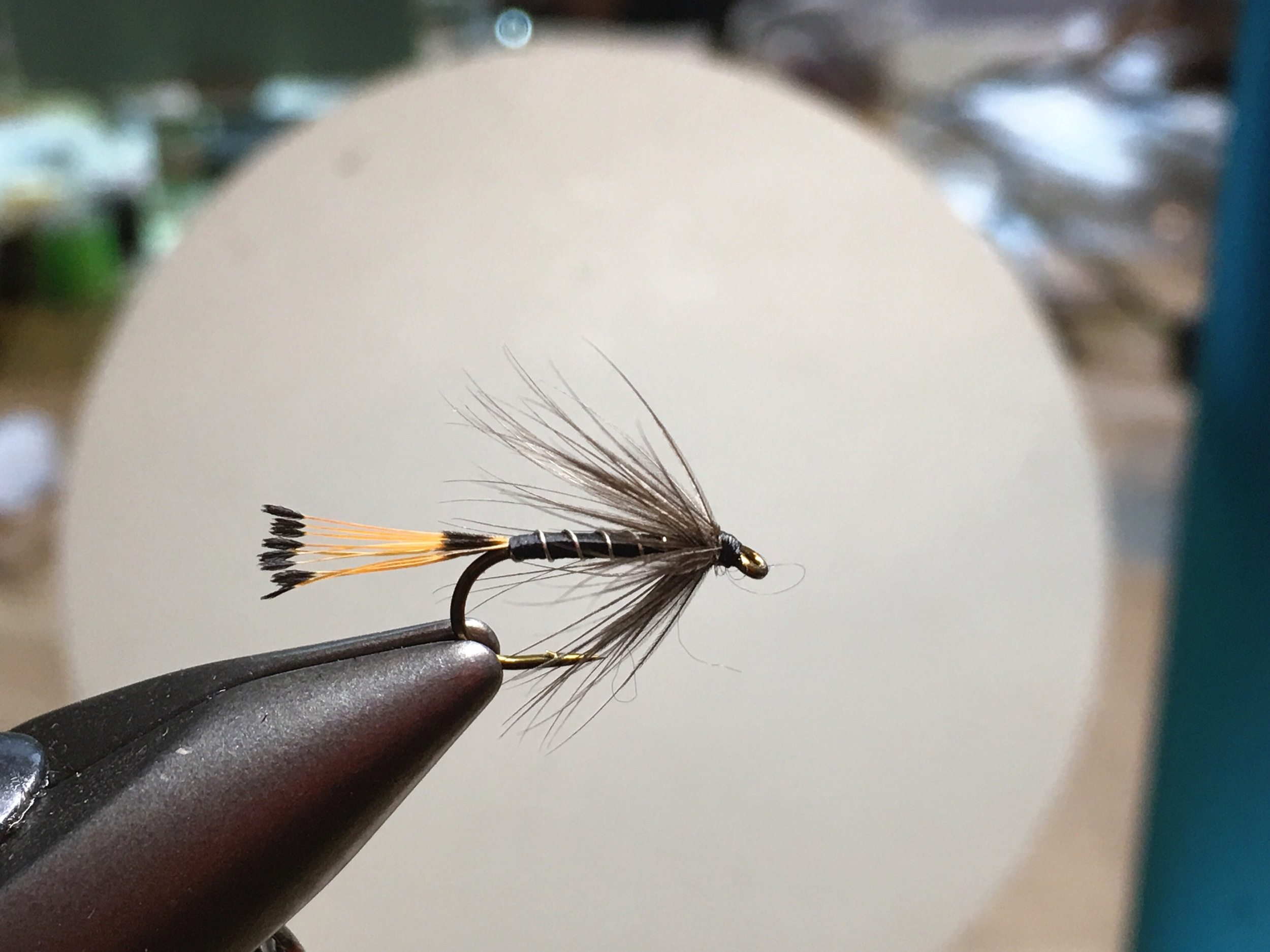 Black Pennell with thread body.